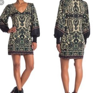 NWT Free People Lyrics Green Sweater Dress Sz XS